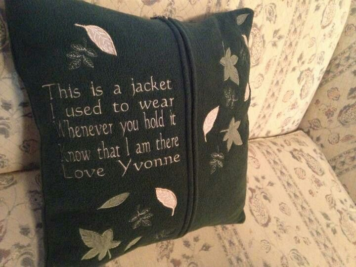 Had this memorial pillow made when my mother in law passed