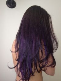 17 Best ideas about Dark Purple Hair on Pinterest