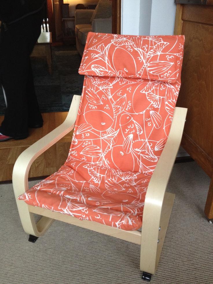 sofa slipcover patterns free rattan set indoor reupholstered children's ikea poang chair in outdoor ...