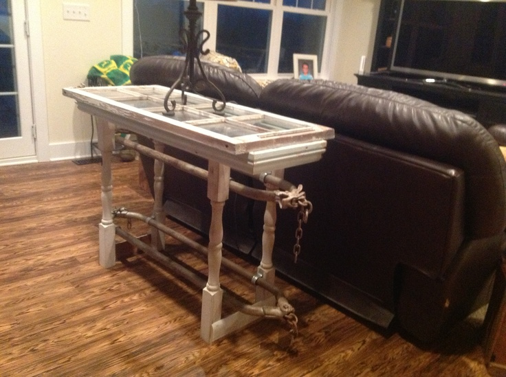 Sofa Table Made From Cow Stanchions From Grandpas Barn Craft Ideas Pinterest Awesome