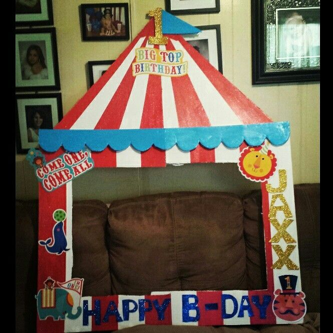 Circus Photo Frame 1st Circus Party Pinterest Photos
