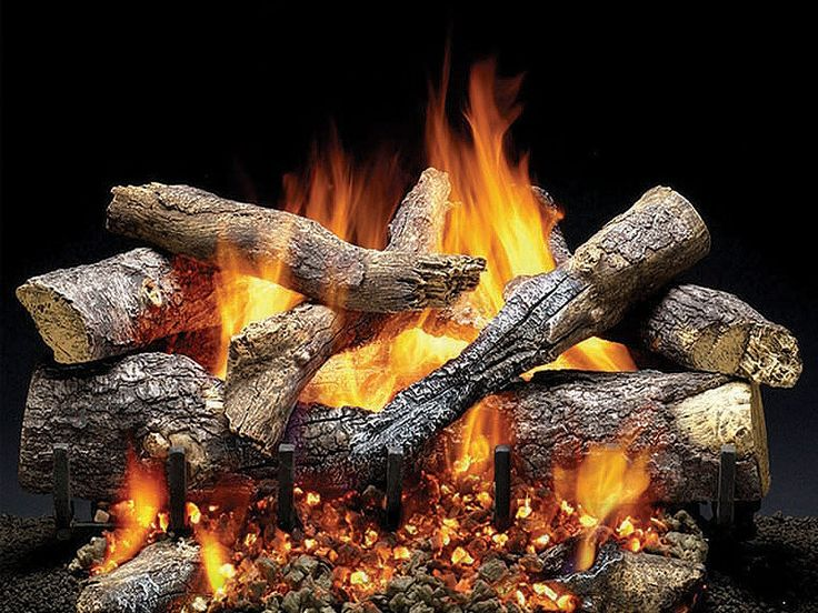 Heat and Glo Fireside Grand Oak Gas Log Set  Heatilator