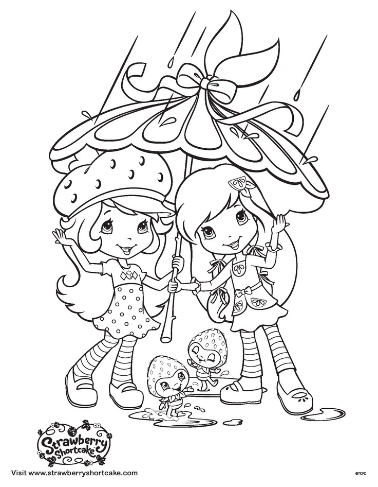 Strawberry Shortcake coloring sheet: April showers bring