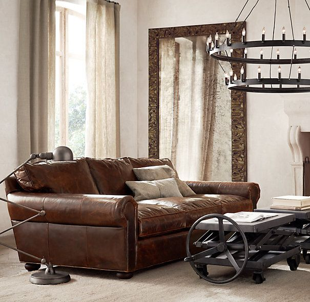 72 lancaster leather sofa quality covers restoration hardware's bellamy hand-carved leaner mirror ...