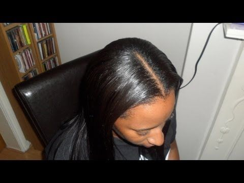 middle part sew in weave tutorial and braid pattern diva straight ting braid