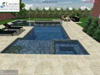 Custom Pool Design - Rectangular pool with flush spa ...