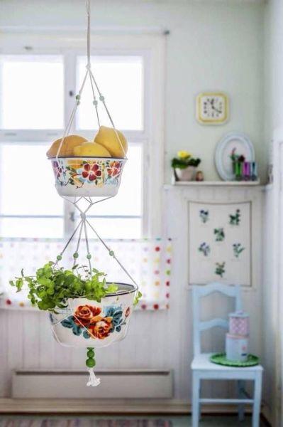 hanging kitchen basket 946 best images about Kitchens on Pinterest