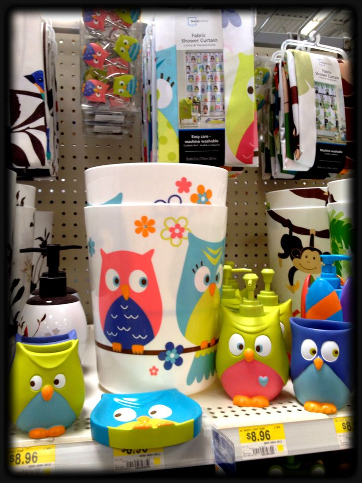 Walmart owl set for the bathroom  Owls  Pinterest  Bathroom Walmart and The ojays