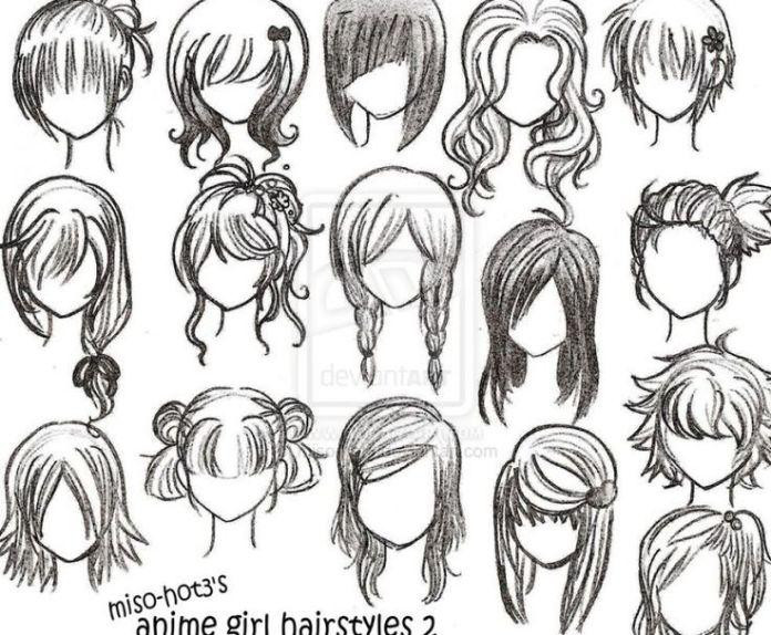 How To Draw Female Girl S Anime Hairstyles Anime Manga
