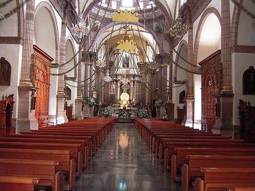 Interior de la Catedral de Zamora Michoacan Mxico