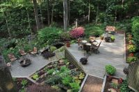 Landscaping for a wooded, sloped lot