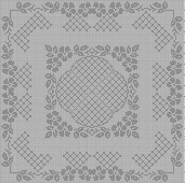 313 best images about Free Filet Crochet Charts on Pinterest