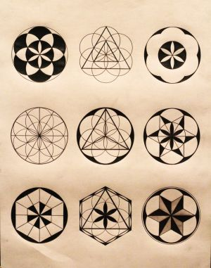 sacred geometry mandala shapes geometric simple flower patterns drawings symbols tree