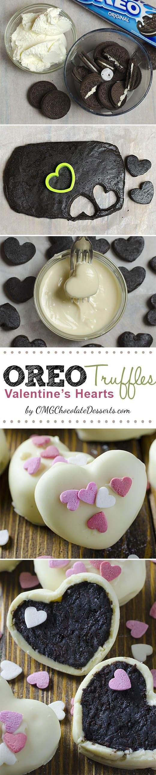 Oreo Truffles now in a new, special Valentines day Edition :). Truffles in the shape of a heart, creamy inside, crispy on the