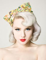 platinum blonde pin hair rockabilly