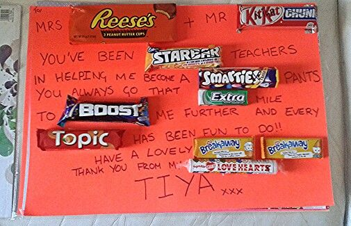 Thank You Letter Using Chocolate Bars Chocolate Bar