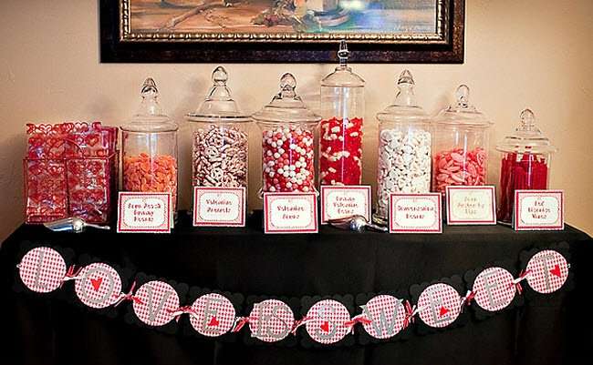 "Engagement Party Idea...""Love Is Sweet"" Candy Bar"