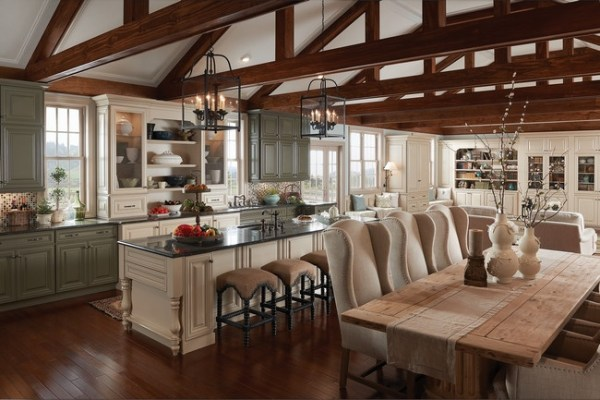 open kitchen with ceiling beams open kitchen, exposed beams   Open Plan Kitchens   Pinterest   Nice, Ceilings and Countertops