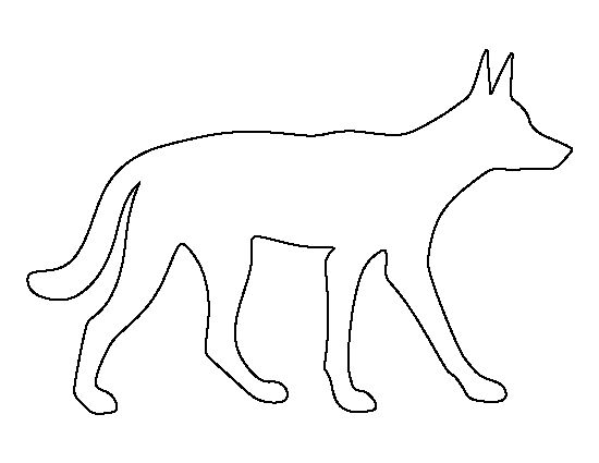 Dingo pattern. Use the printable outline for crafts