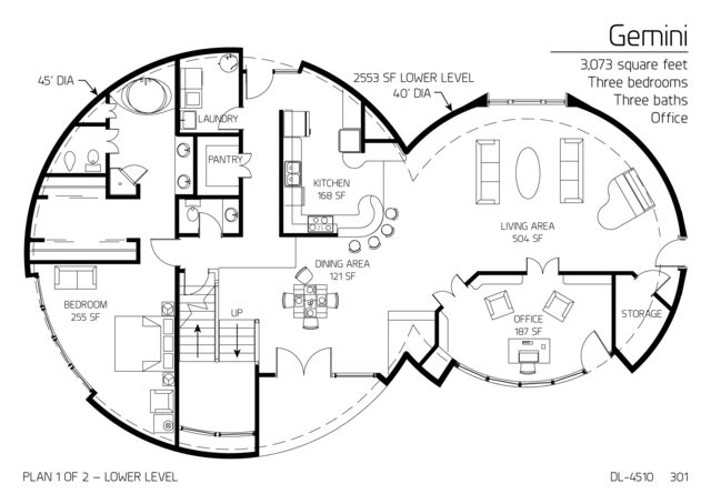 2 story monolithic dome. I would modify the 2nd story