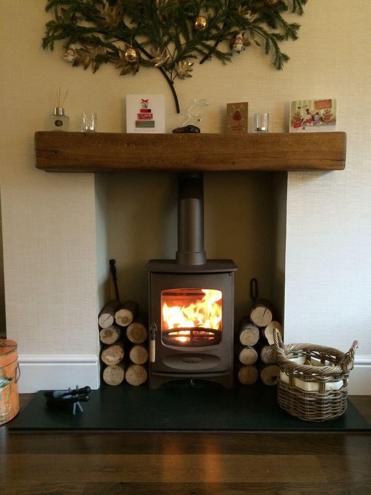 Charnwood CFour in bronze honed granite hearth medium