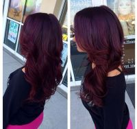 Obsessed with this purple/red hair color | Weaves ...