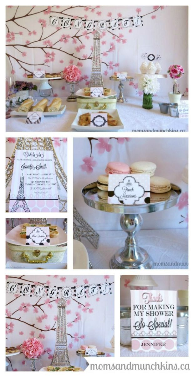 Paris Bridal Shower Ideas #BridalShower