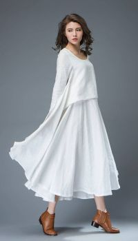 1000+ ideas about White Linen Dresses on Pinterest