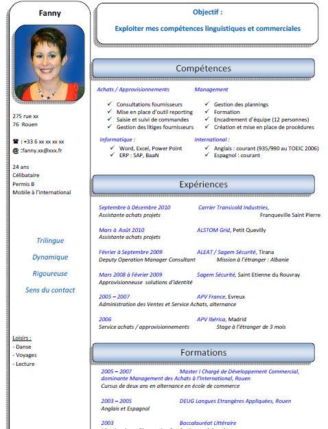 secretaire de direction cv modele