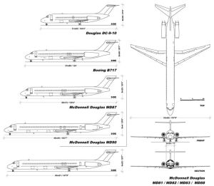 Comparison of the DC9 variants from the DC910 series to