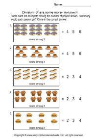 Teaching Beginning Division Worksheets