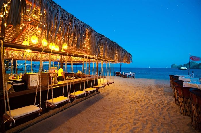 Beach bar with swings Cabo San Lucas Resorts and Villas  PlacesToGo  Pinterest  Swinging