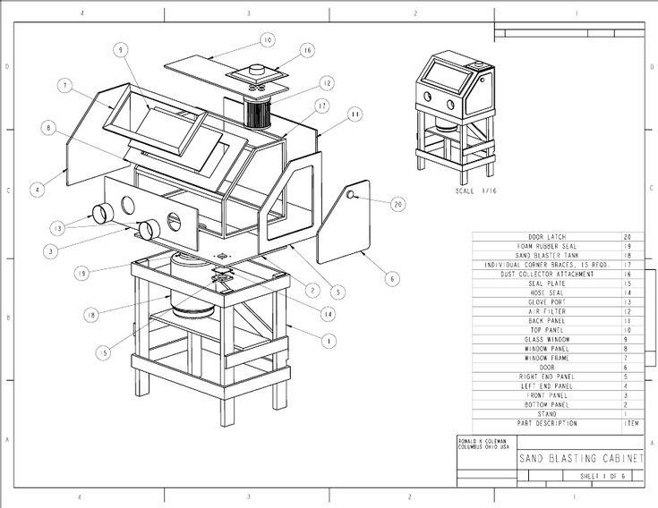 Popular Mechanics Plans-Homemade Sandblasting Cabinet