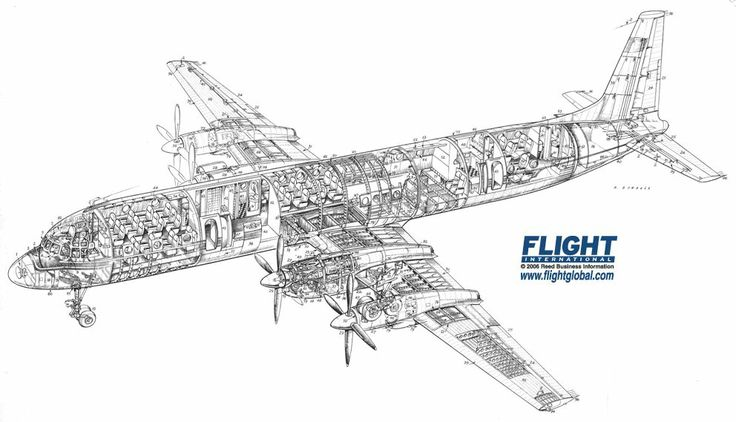 89 best images about Airliner Cutaway Drawings on Pinterest