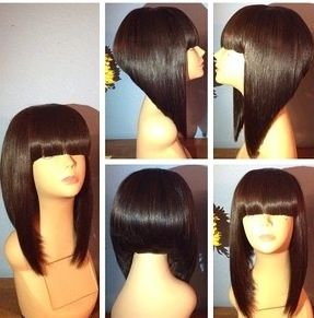 Angled Bobs Blunt Bangs And Bangs On Pinterest