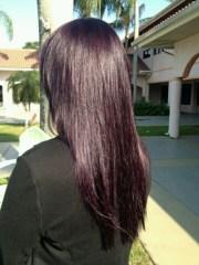 eggplants hair color. custom blended