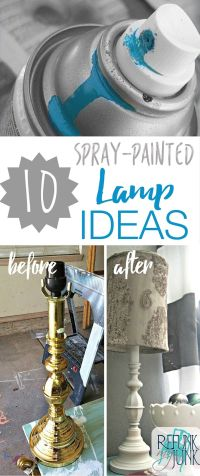 25+ best ideas about Spray paint lamps on Pinterest ...
