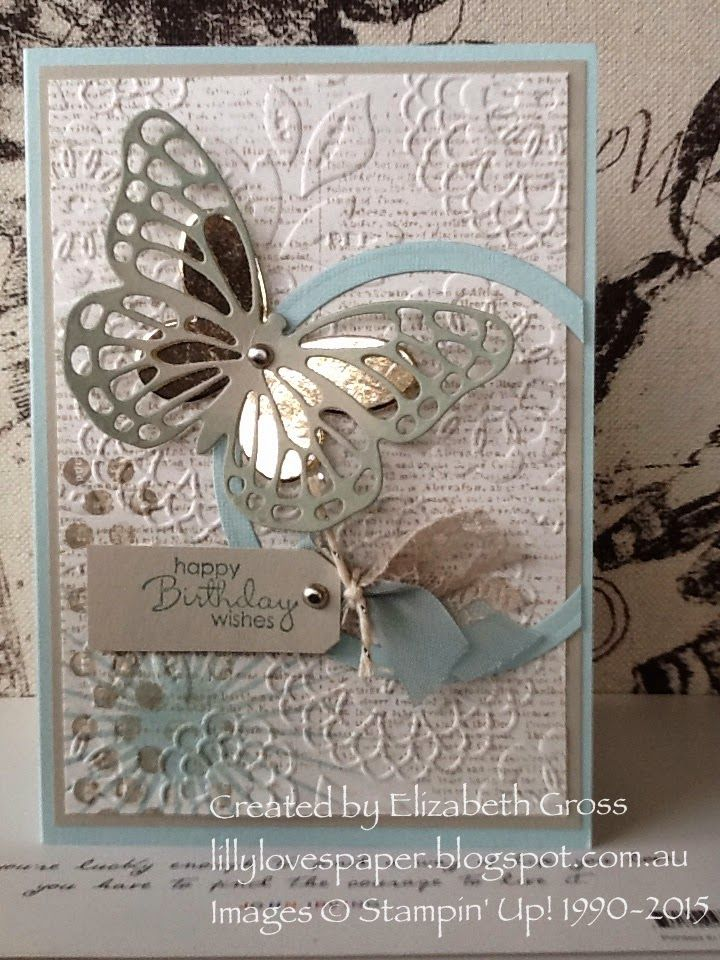 Stampin' Up! Butterfly Thinlits Lovely Lace Embossing