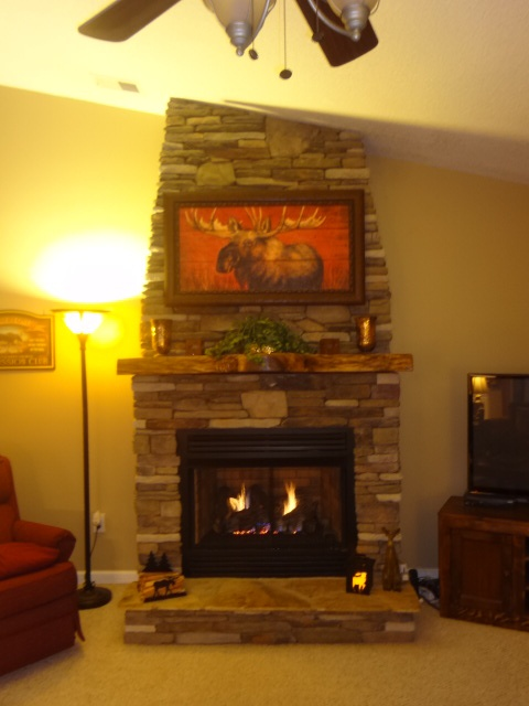 DIY ventless gas log fireplace my husband and I built for