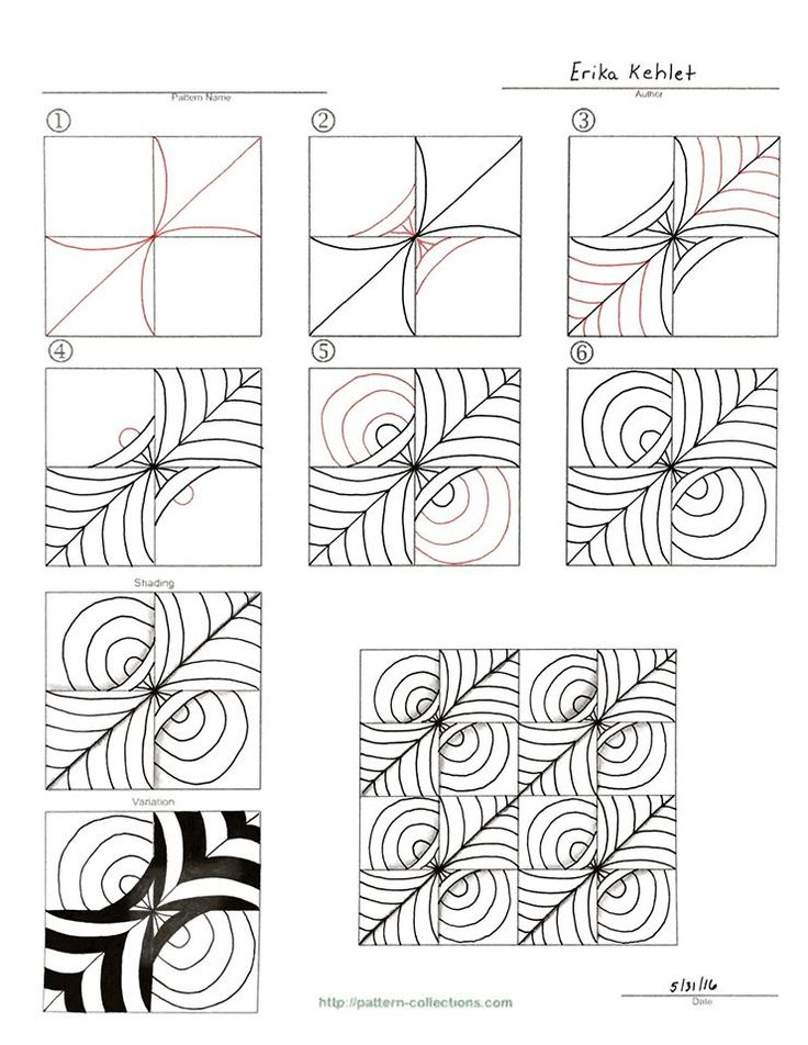 3841 best images about Zentangle Patterns on Pinterest