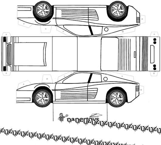 Over 10 luxury 3D paper car templates for children