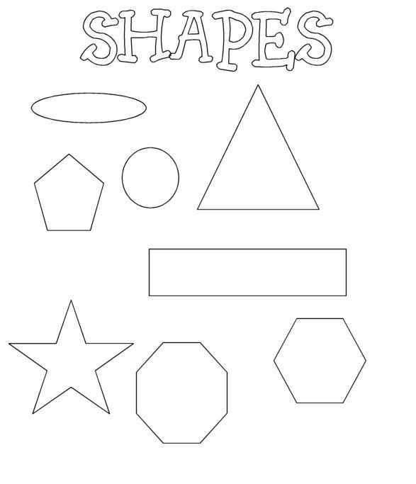 Kinder Malvorlagen Geometrische Formen - Kinder Ausmalbilder