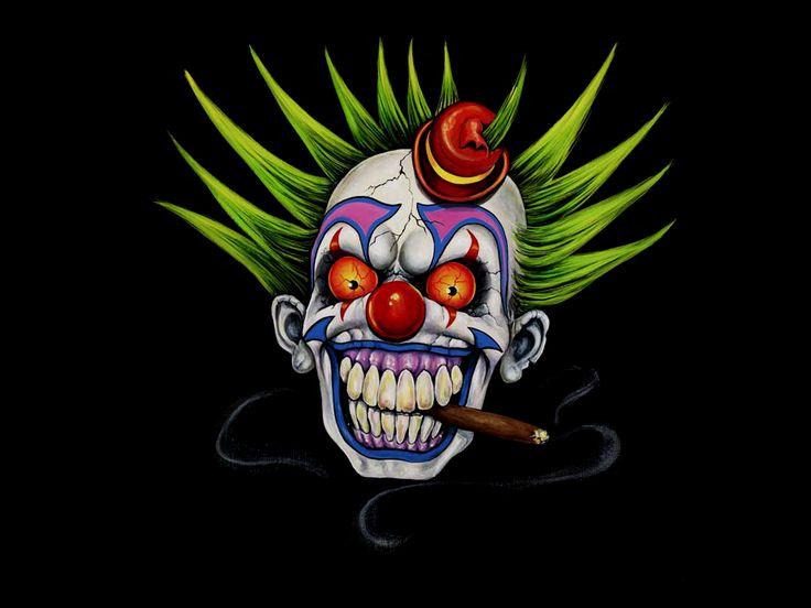 Clown Girl Smoking Cigar Wallpaper Evil Clowns Fairy Tale Girl Smoking Clown Cigar Evil