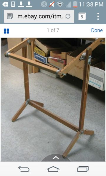 Harry Fraser Vintage Floor Frame Rug Hooking Supplies