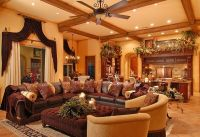 old world tuscan living room