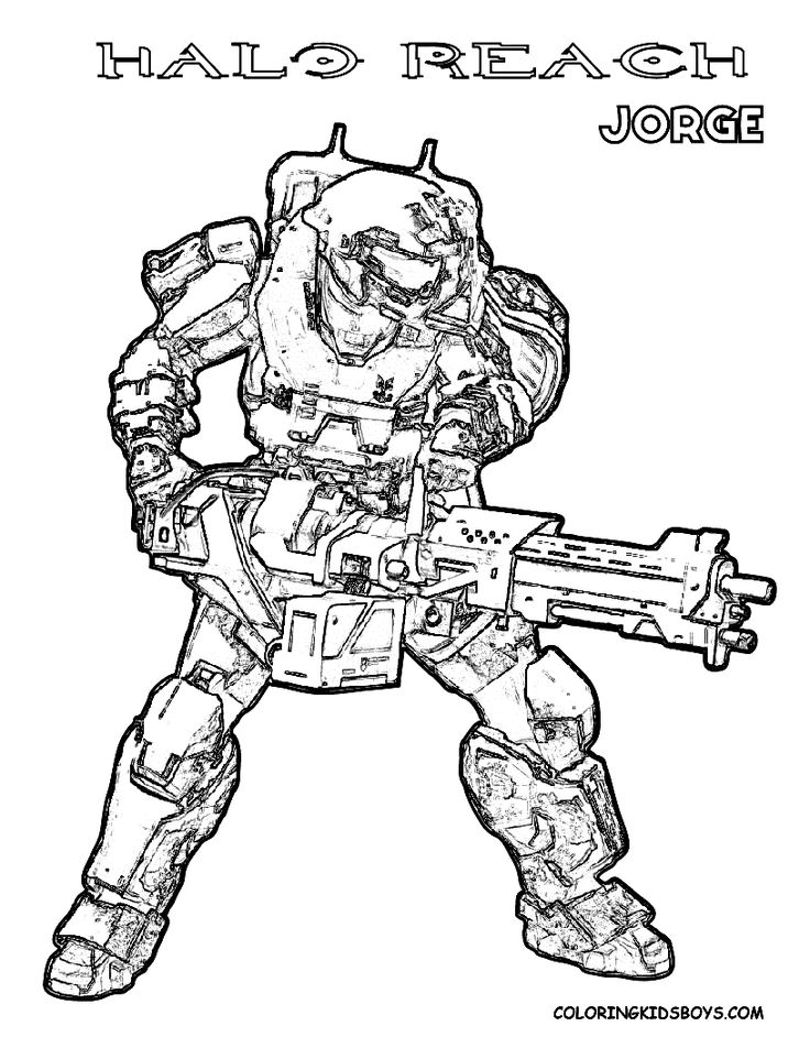 Halo Covenant Pages Coloring Pages