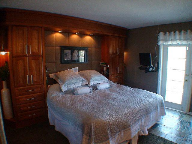 Master Bedroom Built In Headboardstorage Area Use Pop