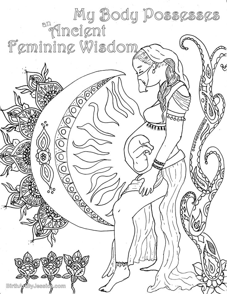 Pregnant Mermaid Pages For Adults Coloring Pages