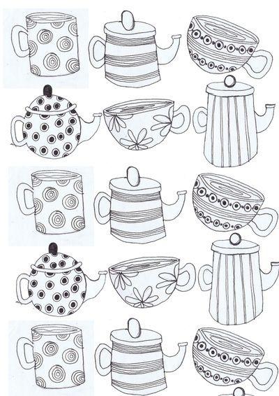 Best 25+ Tea Cup Art ideas on Pinterest