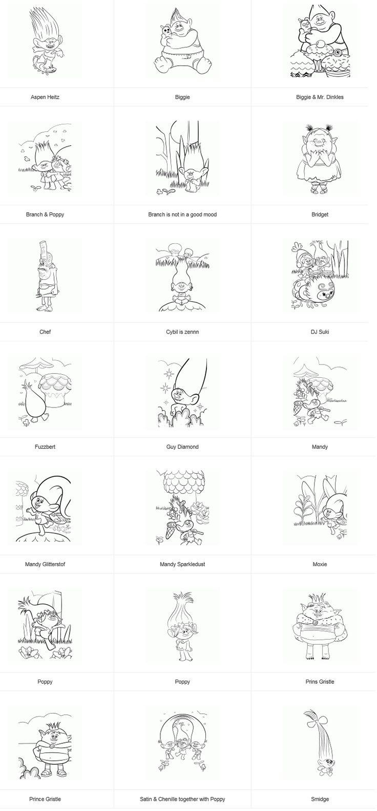 291 best Trolls Printables images on Pinterest